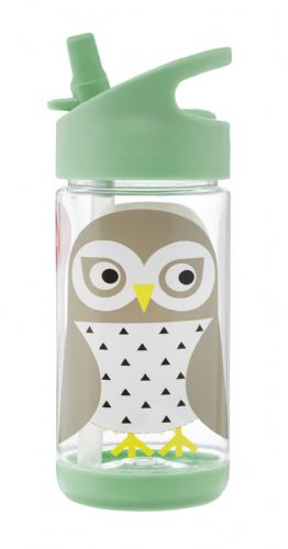 3 Sprouts Water Bottle - Owl